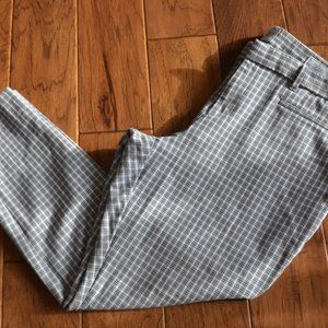 Gap Signature Skinny Ankle Check Pants Size 14